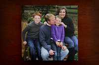 Classic family album 10x10 with custom photo cover