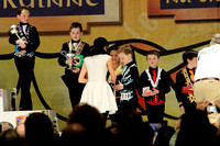 Henry Sneed (#119) of Davidson receives a medal for solo dancing at the Oireachtas Rince na Cruinne, or World Irish dance championships, in Boston in March.