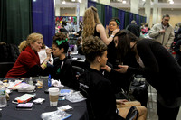 hair and makeup before 2013 Boston Worlds 8hand
