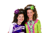 2011 Madeleine and Chloe at first calendar shoot - RNE class feis